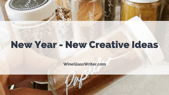 New Year - New Creative Wine Glass Writer Ideas