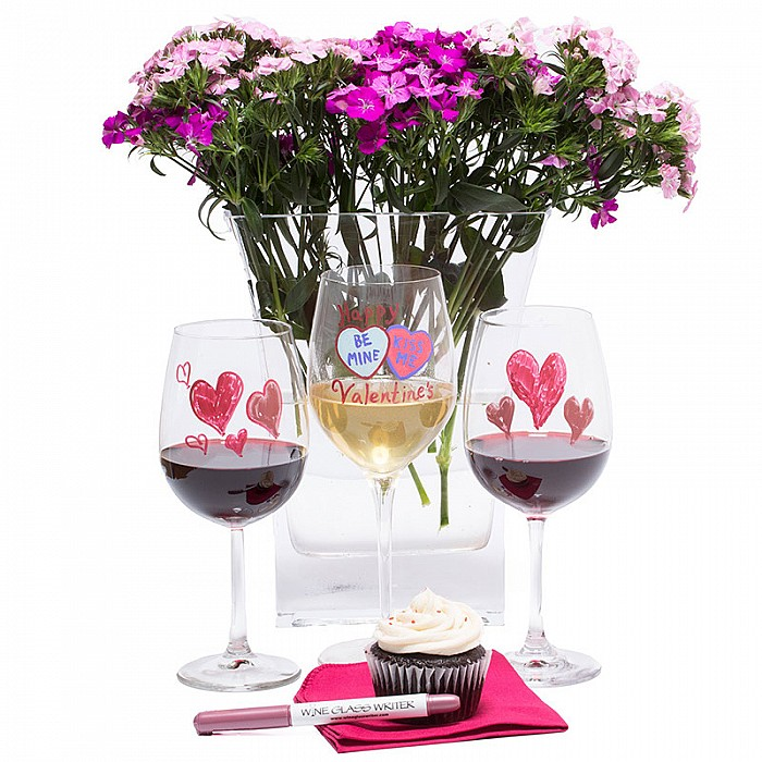Wine Glass Writer Valentines Day Surprise