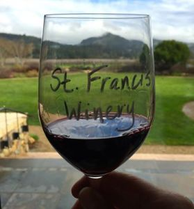 st francis wine glass