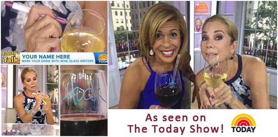 Wine glass identifiers, Wine Gifts, The today Show collage