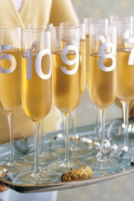 New Years Eve Countdown Wine Glass Writer